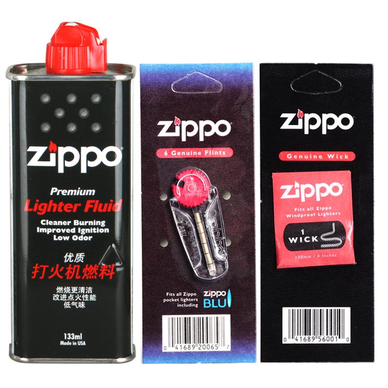 Зажигалка Zippo Подлинное Zippo Зажигалки + 133 мл масла zipoo нефти фитиль + Огниво частей керосина флагманский магазин