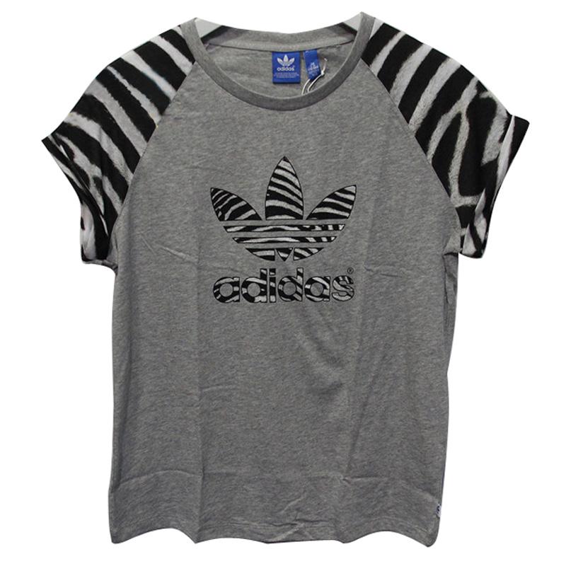 阿迪达斯三叶草2014夏阿迪女短袖T恤S08446 S08447 F82113 F82106