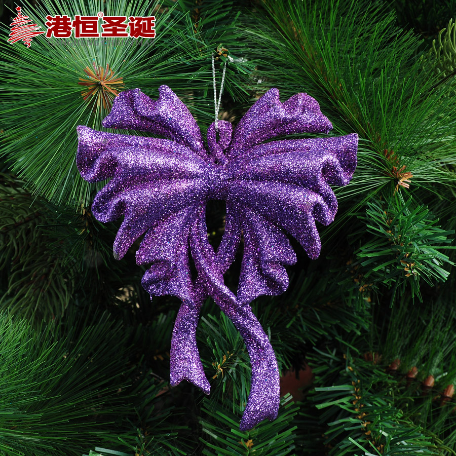 Hong Kong Hang Christmas tree decorations 15x12cm purple sticky pink ...