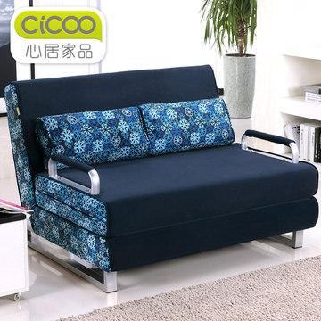 心居家品 双人小户型日式多功能沙发床 1米1.2米1.5米1.8米 折叠