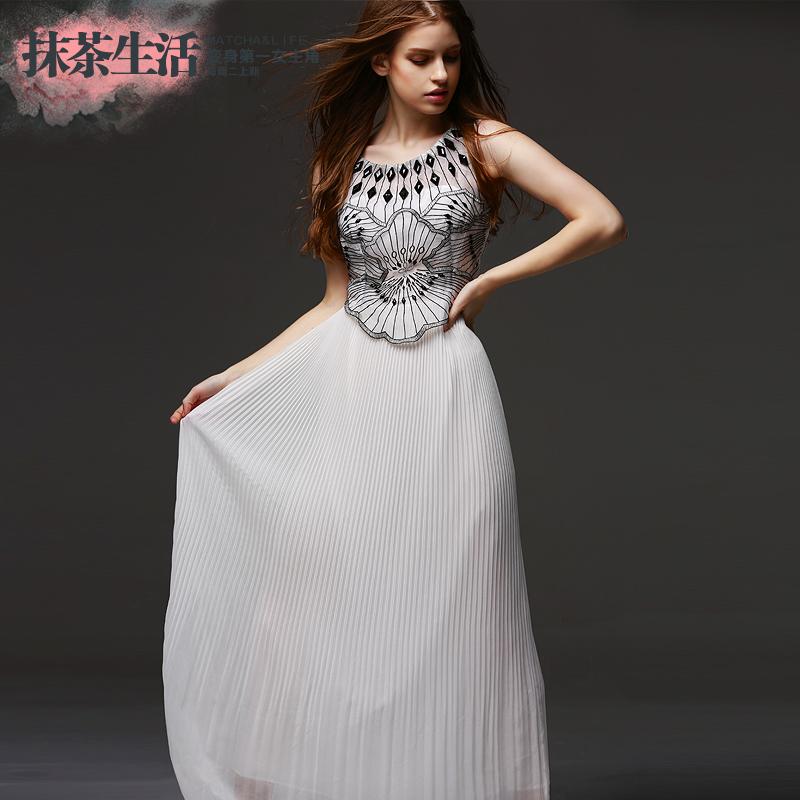 欧美高端修身优雅复古名媛气质长裙连衣裙
