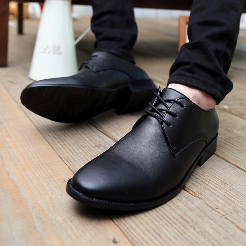 男士中帮皮鞋搭配