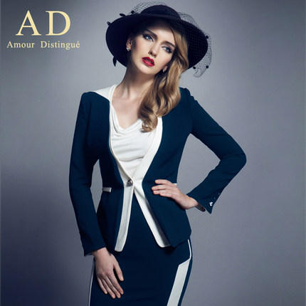 AD 2014 autumn fashion clothing suits women cultivate one's morality dress suit dress long-sleeved white overalls to boo