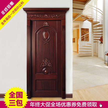 Contemporary Pure solid wood interior doors wood doors bedroom door suite door paint the door carving Ideas - Beautiful painting panel doors Photos