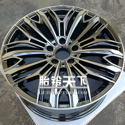 [ World] black- plated bell tire surface yishen car , Tiida , Yuet modified car wheels 17-inch 18-inch