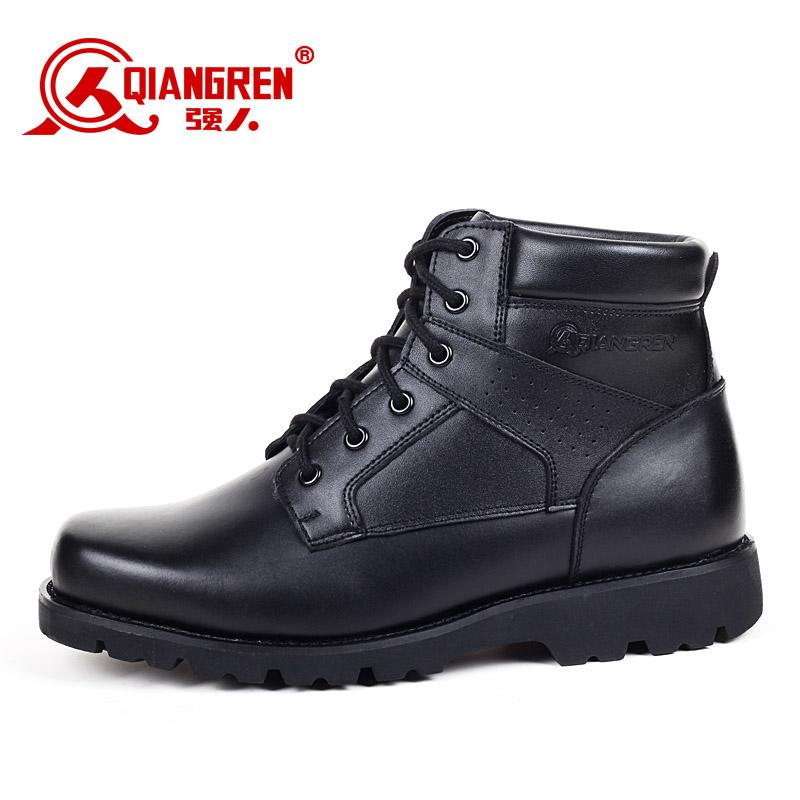 【售罄】3515强人正品男真皮羊毛军靴皮毛一体保暖皮靴特种兵靴大头棉鞋