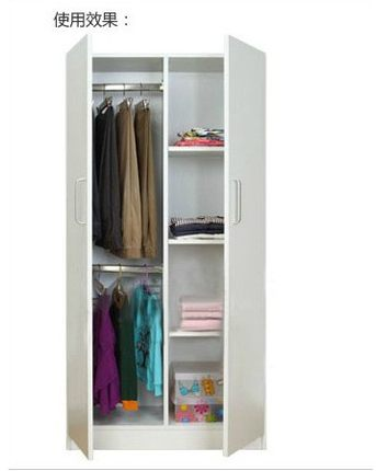 Special Shipping Locker Wardrobe Simple IKEA Childrens Sliding Two Small Wooden Closet