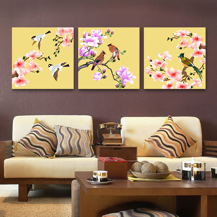 Required painting modern minimalist living room decorative painting frame painting bedroom triple sofa backdrop mural paintings study