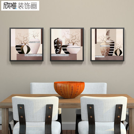 Wei Xin decorative painting modern minimalist living room sofa backdrop painting decorative painting wall murals restaurant entrance paintings