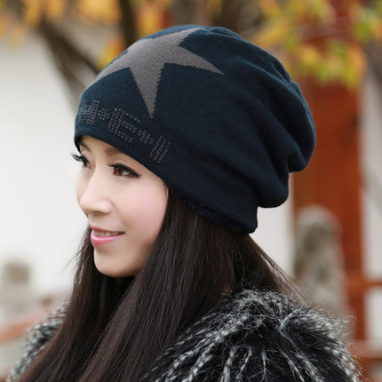 cf3f2c56fe Buy Daisha thicker female Korean winter hat wool cap sleeve head cap tide  fashion warm hat ear cap Baotou in Cheap Price on m.alibaba.com