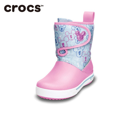 40677b1b8 Get Quotations · Crocs Crocs shoes free shipping Mickey small card Luo Ban  gust boots warm boots for children