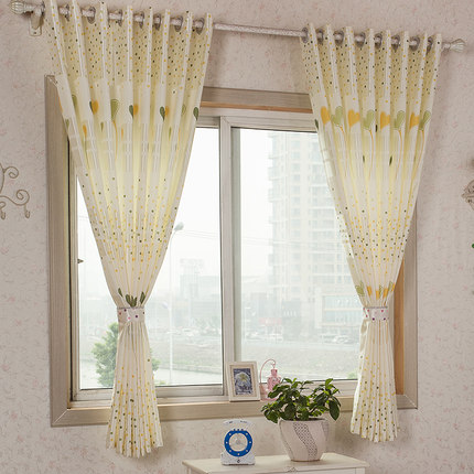 small window bay window curtains curtain chinese short half curtain