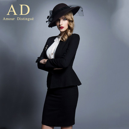 AD the French women's new age season 2014 professional attire ol elegant temperament suit fashionable dress brand in Eur
