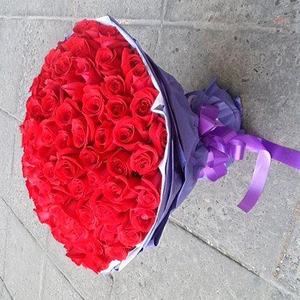Girlfriend lover anniversary flower delivery Beijing Chaoyang Changping city of Liaoyuan florist send 99 red roses