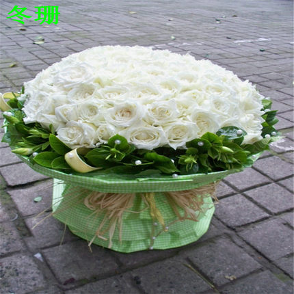 Girlfriend Lover Anniversary Jurong city of Xuzhou , Changzhou Baicheng flower delivery florist send 99 white roses