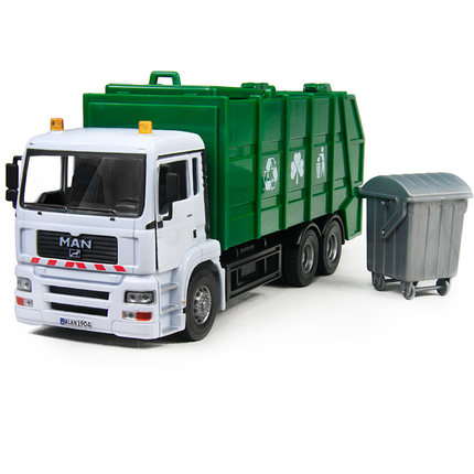 Jun -based alloy 1:32 sanitation trucks garbage trucks model large-scale clean car model toy car truck