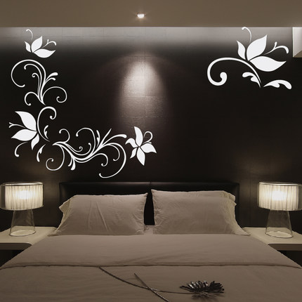 Buy 3d living room tv backdrop relief acrylic mirror for 3d wall designs bedroom