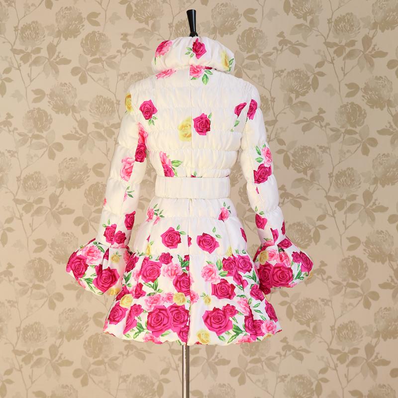 Женский пуховик Big pink cloth doll c37xa 12.12