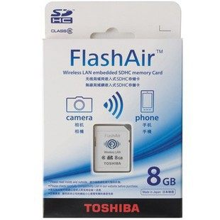 Buy Toshiba FlashAir wireless WiFi card 8G card artifact ZR1000