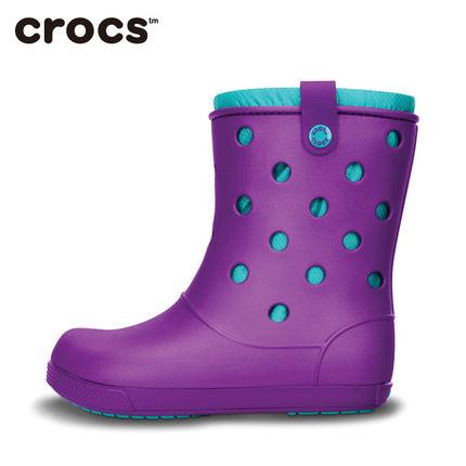 Free shipping Crocs Crocs shoes card Luo class family female flat boots warm cotton boots | 14645