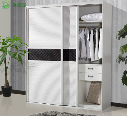 Get Quotations · Heart Yiping Green Shutters Plate Wardrobe Sliding Doors  Sliding Door Cabinet IKEA Two Simple Wood Custom