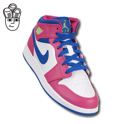 2d58ac6d8e06 Air Jordan 1 Mid AJ1 baby blue shoes high-top shoes fashion casual shoes  555112