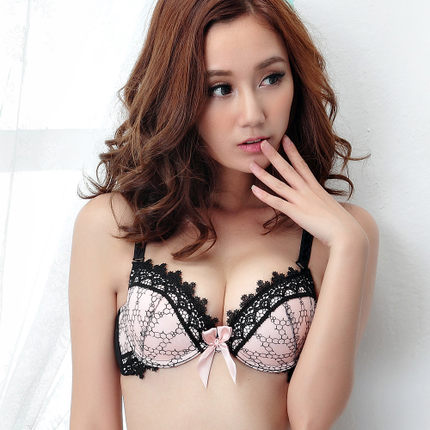 296d21f0b3a Alice Xin Japanese sweet little embroidered openwork lace sexy lingerie bra  set rope adjustment 880