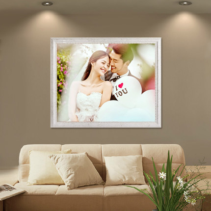European Wood Frame Wall 1624 Inch 20 Wedding Poster Art Photo Creative Puzzles Family