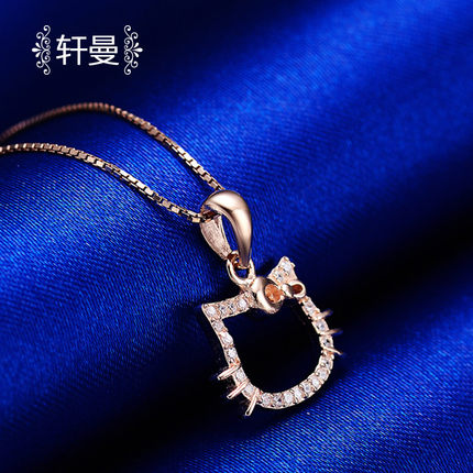 Cheap silver hello kitty necklace find silver hello kitty get quotations high end custom s925 hello kitty hello kitty diamond pendant silver owl pendant mozeypictures Gallery