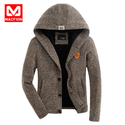 Male fashion new winter sweater thick collar big yards camouflage Korean velvet stitching thin sweater tide Men