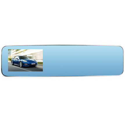 Newman K4 upgraded version tachograph curved mirrors 1080P dual camera 170 degree wide-angle lens Blue