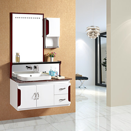 PVC Bathroom Cabinet Manufacturers Group New Special Bathroom Washbasin  Cabinet Combination Washbasin Cabinet Mirror Wall Cabinet