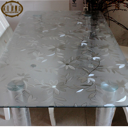 Pvc Table Cloth Soft Glass Water And Oil Repellency Disposable Plastic  Coffee Table Mat Mat Transparent